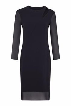 Feria Cut-Out Collar Dress With SIlk Over Dress With Silk Overlay by Rose & Willard #Silkarmour #Corporatefashion #Women #Business #fashion #Sophisticated #luxury #workoutfit
