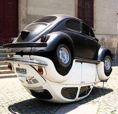 Ying Yang VW Beetles - how cool is this! Kind of makes me hungry too...