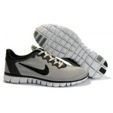 Opprinnelige Nike Free 3.0 V2 Mann running Sko Grey/Svart balanserer{LBQmQ5}