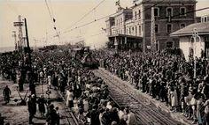 1848. Arribada del primer tren a Barcelona. El primer de tota Espanya..