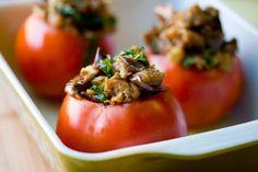 Кавказская кухня » Толма из помидоров с грибами