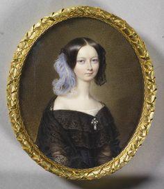 François Meuret (1800-87) - Hélène, Duchesse d'Orléans (1814-1858), 1846