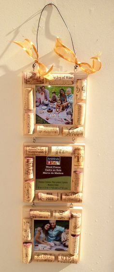 Wine Cork Picture 3 Frames SALE by MaxplanationPhotos on Etsy, $12.00