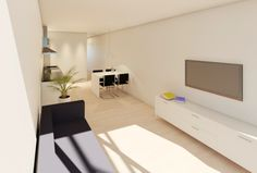 Wohnzimmer eines Townhouses in Bamberg. Im Vertrieb der Ott Investment AG, Schlüsselfeld. Mehr zu der Immobilie finden Sie hier: http://www.ott-kapitalanlagen.de/denkmalgeschuetzte-immobilie/bamberg/schaeffler-2-0-townhouse-eigentumswohnung-einfamilienhaus.html