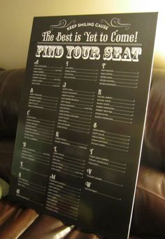 Our Seating Chart :  wedding Seating Chart