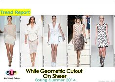 White Geometric Cutout on Sheer Fabric #Fashion Trend for Spring Summer 2014 #spring2014 #trends2014