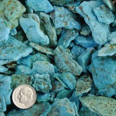 Genuine Blue Ridge Rough Turquoise Nuggets - 1lb $175.00 #alltribes