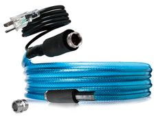 Heated Drinking Water Hoses provides safe drinking water in below freezing temperatures by combining a drinking-water-safe hose with a self-regulating heat source encapsulated in an all-weather, PVC coating. Features machined and Nickel-plated fittings for maximum corrosion protection.