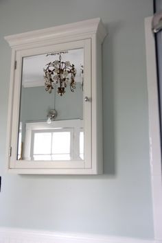 SNEAK PEEK - MASTER BATHROOM COLOR-PALLADIAN BLUE - My Old Country House