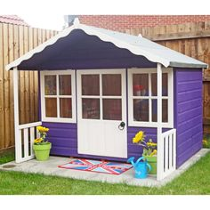 A wooden playhouse is a charming garden addition. A traditional wendy house? A two-storey playhouse? A tower playhouse with slide? Shedstore has it all. Kids Wooden Playhouse, Garden Playhouse, Childrens Playhouse, Playhouse Outdoor, Playhouse Interior, Playhouse Ideas, Tongue And Groove Cladding, Buy Shed, Shiplap Cladding