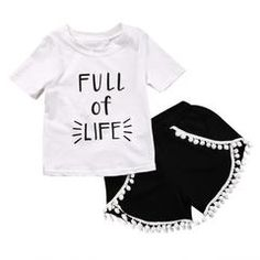- Toddler Girl - 2 Piece Outfit - Summer - Short Sleeve Shirt - Shorts Free Shipping! Please allow 2-4 weeks for delivery.