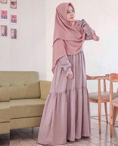 Modest Dresses, Modest Outfits, Dress Outfits, Maxi Dresses, Abaya Fashion, Modest Fashion, Fashion Outfits, Muslim Women Fashion, Islamic Fashion