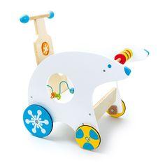 Lauflernwagen Eisbär - Mit diesem niedlichen Eisbär lässt sich spielerisch das Laufen lernen. Die Lauflernhilfe mit den bunten Rädern saust ganz kinderleicht über den Boden und hat sogar noch Platz für so manche Sammelelei!