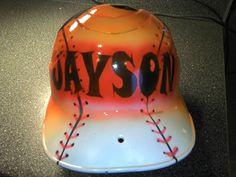 Baseball Softball Batting Helmet by ZimmerDesignz on Etsy, $45.00