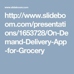 order all your groceries for the week from your usual stores who deliver it to you over the weekend at your requested time.