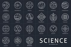 26 Conceptual Science Marks - Icons - 1