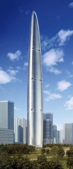 Wuhan Greenland Center, Wuhan, China by Adrian Smith + Gordon Gill Architecture :: 125 floors, height 626m
