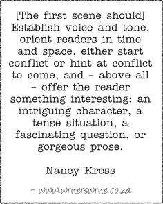 The first scene - Nancy Kress