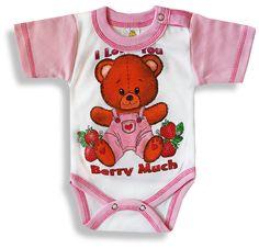 Detské body, krátky rukáv, Berry http://www.milinko-oblecenie.sk/0-6-mesiacov-2/ #detskebody #kojeneckebody #bodyprebabatka