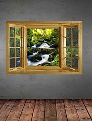 3D Wall Stickers Wall Decals, Landscape Decor Vinyl Wall Stickers