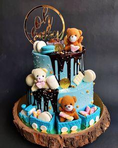 2 Tier Overload Chocolate Teddy Bear Birthday Cake Teddy Bear Birthday Cake, Two Tier Cake, Cake Delivery, Tiered Cakes, Chocolate, Desserts, Food, Tailgate Desserts, Deserts