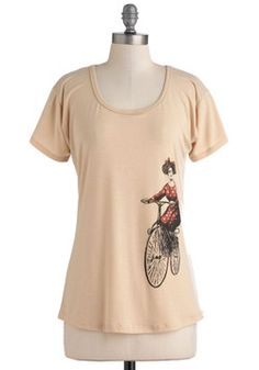 Pedal My Penny-Farthing Top, #ModCloth