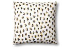 Animal 20x20 Linen Pillow, Gold