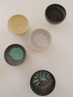 Karin Blach Nielsen #stoneware #bowls, 2014 Stoneware, Glaze, Sculpting, Bowls, Decorative Plates, Shapes, Ceramics, Tableware, Home Decor