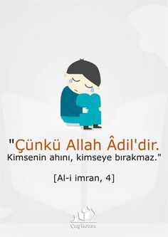 Çünkü Allah adildir. Allah, Meaningful Lyrics, Religion, Turkish Language, Good Sentences, Islam Muslim, Inspiring Things, Persecution, Sufi