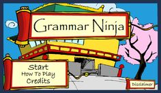 Throw ninja stars to identify the correct parts of speech. from kb connected
