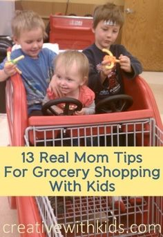 Okay who else things grocery shopping with kids is torture? I see a lot of hands up! Number 7 works for me quite often. Which one is your favorite?