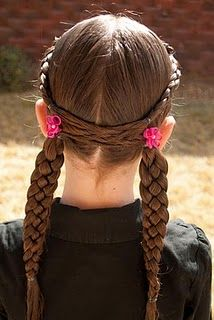 Crossing Over Hairstyle @ Princess Piggies