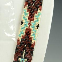 Beaded Navajo Necklace by Rena Charles Woven Bracelets, Native American Art, Loom Beading, Navajo, Beaded Necklace, Beads, Handmade, Jewelry, Bangles