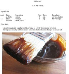 BBQ Sauce. You will never buy again :-)