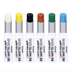 Set Of 6 Matte Lipsticks Black Blue Green White ✨ Set of all 6 matte lipsticks pictured above. Ships next day. $20 Makeup Lipstick