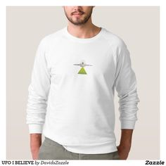 UFO I BELIEVE Shirt  Available on more products! Type in the name of this design in the search bar on my Zazzle products page to see them all!  #ufo #alien #space #outer #universe #ship #flying #saucer #little #green #men #conspiracy #theory #cartoon #illustration #funny #drawing #digital #scifi #science #fiction #buy #zazzle #sale #for #sale #men #women #fashion #style #clothes #apparel #tee #tank #hoody #sweatshirt #lifestyle