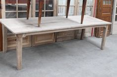 Achterhuis.nl   Eenmalig:  Eiken tafel groot model:  Mooie kleur!