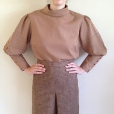 Vintage 70s Victoriana blouse button back by TheDanceAndDress, £25.00