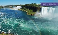 Groupon - Stay with Dining Package at Ramada Hotel Niagara Falls Fallsview in Ontario. Dates into May. in Niagara Falls, ON. Groupon deal price: $42