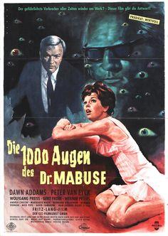"""Die Tausend Augen des Dr. Mabuse"" ""Die 1000 Augen des Dr. Mabuse"" (1960) Country: Germany. Director: Fritz Lang. Cast: Dawn Addams, Peter Van Eyck, Gert Fröbe"