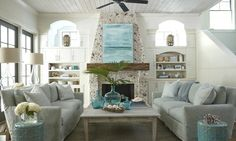 House Tour: Tracery Interiors - Design Chic - great living room - love the abstract art!