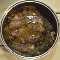Rouladen with Brown Gravy -- looks gross but sounds awesome!!! German food.