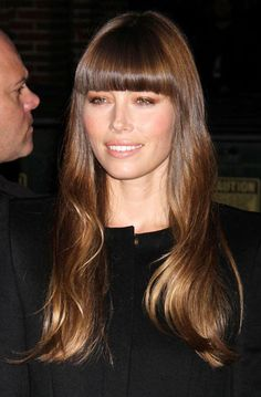 Top Of Our Celeb Hair Crush List Is Jessica Biel's Super Glossy Barnet And Blunt Bangs - Swoon!
