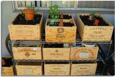 Love this idea! I might do this with some of my wine boxes from the wedding.