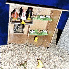 "Serie Fotográfica ""Belén Playmobil"" Foto 10. ""Gallinero"""