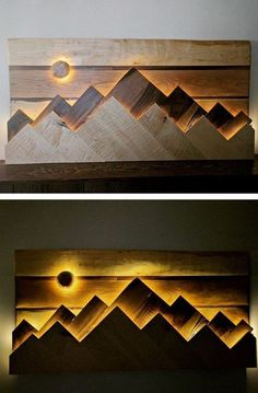 35 Pallet Wall Shelf Art With Cabinet Ideas - Wood DIY Idea Paletten Wandregal Kunst Mit Schrankideen – Holz DIY Ideen 35 pallet wall shelf art with cabinet ideas, ideas shelf - Pallet Wall Shelves, Pallet Wall Art, Pallet Walls, Wood Wall Art, Shelf Wall, Pallet Sofa, Pallet Ideas For Walls, Light Wall Art, Wood Artwork