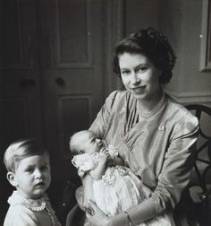 Elizabeth with Charles and Anne