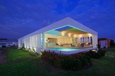Architect Martin Dulanto Sangalli has designed this beach house located in Lima, Peru