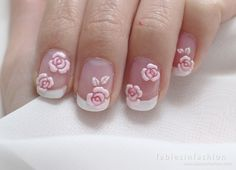 Valentines Pink Rose Nail Art - Fables in Fashion Rose Nail Art, Rose Nails, Pink Nails, Pink Nail Designs, Pink Roses, Valentines, Beauty, Gowns, Shoes
