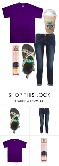 """""""Exact ootd💕"""" by ava-navarrrroo ❤ liked on Polyvore featuring Frame and Gildan"""